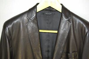 440b875c3 GORGEOUS!! GUCCI BY TOM FORD MEN FITTED BLACK LEATHER JACKET/BLAZER ...