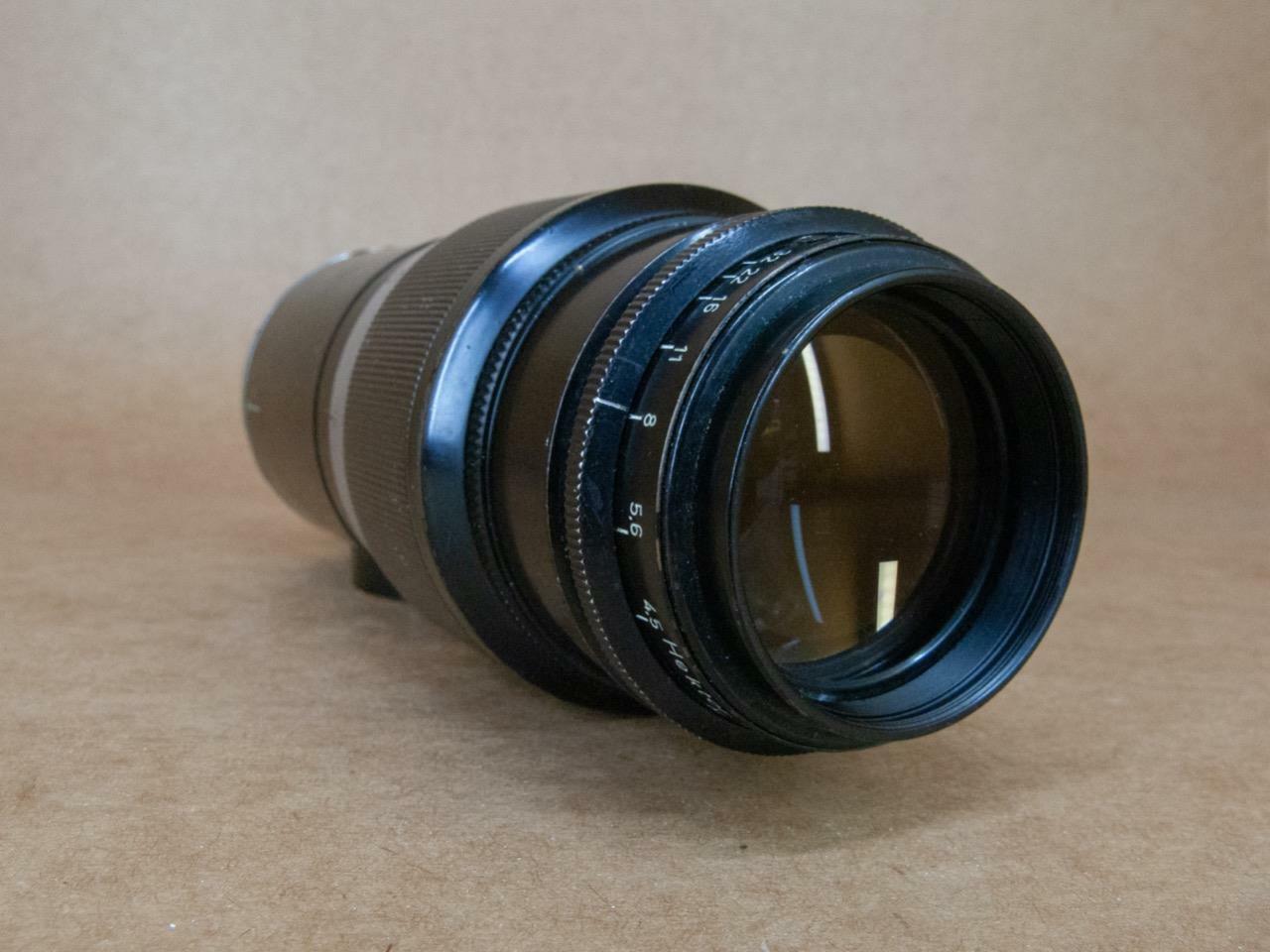 Leitz Leica 135mm 1:4.5 Hektor Black/Chrome finish 1936 - Coated