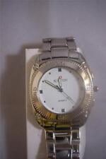 Biancchi Quartz Swiss Mens Steel Silver Wristwatch White Dial