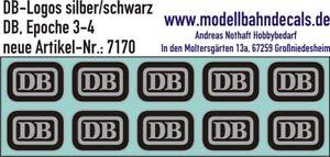 10 H0 Décalques Db Logo 4,6 X 3,25 Mm Argent/noir Cookie Nouveau Top Décalques 087-7170-afficher Le Titre D'origine Amener Plus De Commodité Aux Gens Dans Leur Vie Quotidienne