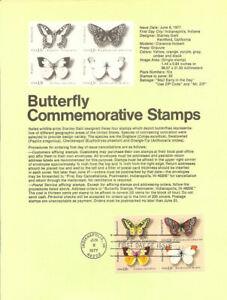 #7707 13c Butterflies Stamps #1712-15 Souvenir Page