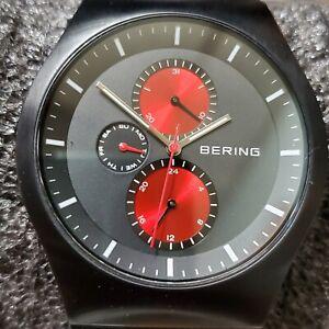 BERING-WATCH-11942-229-MENS-BLACK-MESH-BAND-WATCH