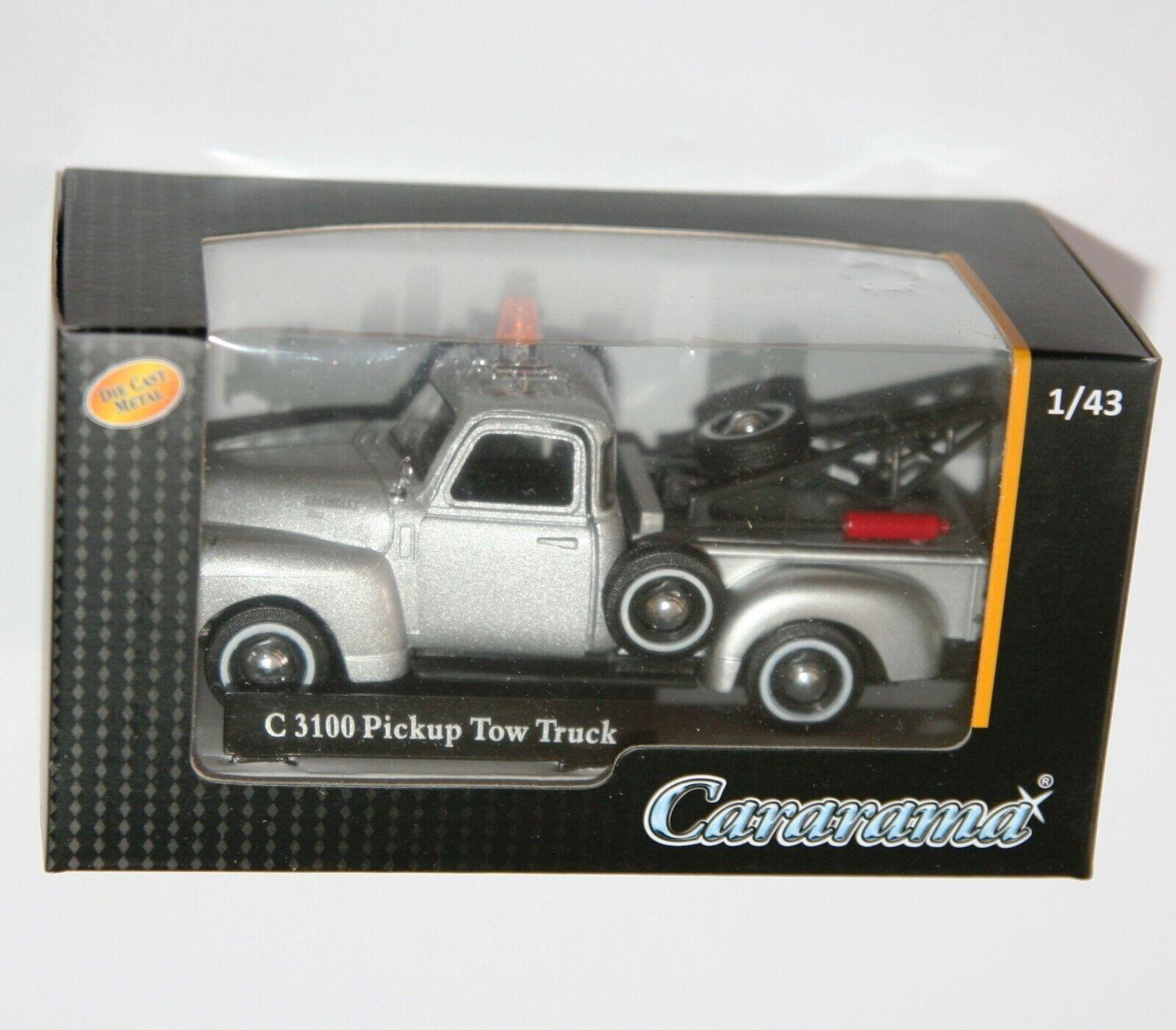 Chevrolet C3100 Pickup Tow Truck gelb Cararama Auto Modell 1:43
