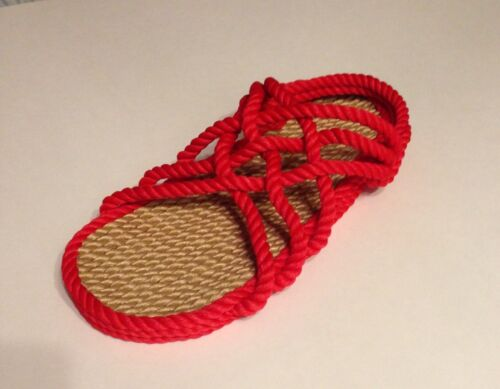 Rope Sandals Women/'s Size 10 Wide  Red Men's Size 9 Wide