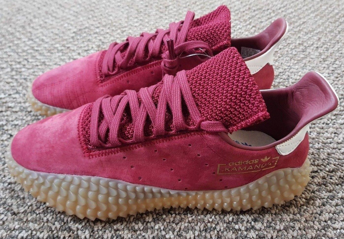 Adidas Originals Kamanda scarpe da ginnastica Borgogna Rosso Nuovo di Zecca