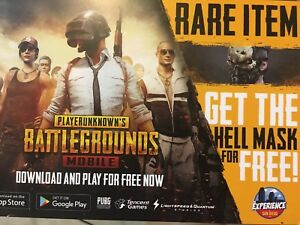 Details about PUBG MOBILE PROMO CODE HELL MASK SDCC 2018
