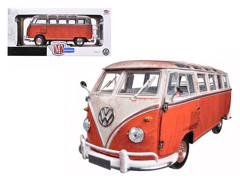 1960 Volkswagen Volkswagen Volkswagen Microbus Deluxe USA Rusted 1 24 Model - 40300-45a 16631e
