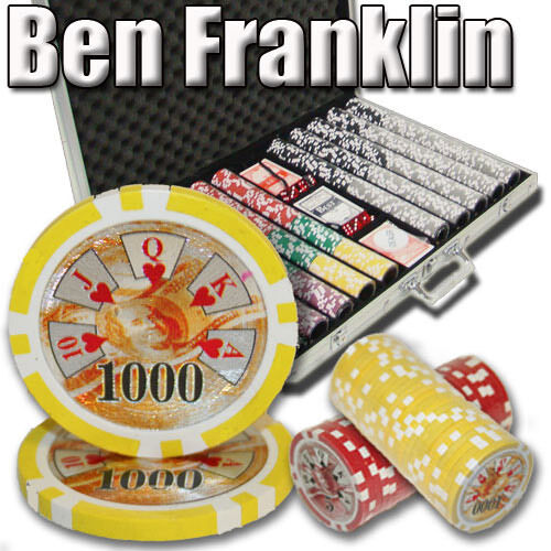 Pick Denominations! New Bulk Lot of 200 Ben Franklin 14g Clay Poker Chips