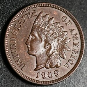 1909-INDIAN-HEAD-CENT-With-LIBERTY-amp-Near-4-DIAMONDS-AU-UNC