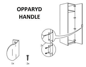 IKEA opparyd//vikedal//Pax Poignée de remplacement X 1 garde-robe Genius NEUF