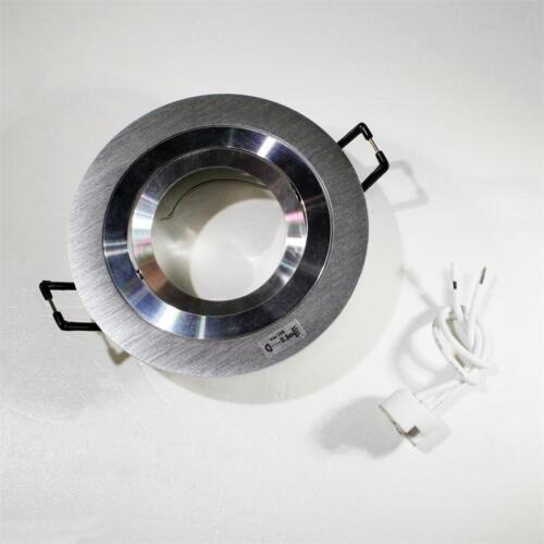 Encastré montage projecteurs environ ALU-brossé inclinable mr16 Cadre de montage 12v