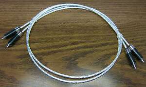 RCA-Carbon-Fiber-Rhodium-Audiophile-Interconnect-Cable-1m-Silver-Plated-PTFE