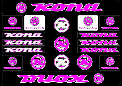 HARO Bicycle Bike Frame Decals Sticker Adhesive Graphic Vinyl Aufkleber Pink
