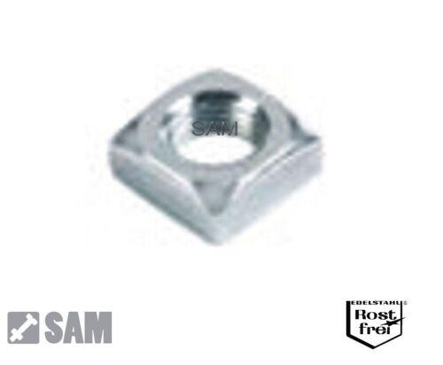 Vierkantmuttern DIN 562 Acier Inoxydable a2 m2 à m10-square NUTS stainless steel