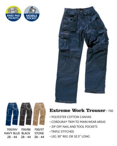 TUFF Stuff 700 EXTREME CORDURA Lavoro Pantaloni Ginocchio Pad Tasche Hard tutte le taglie//col.