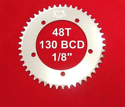 """130 BCD Track Fixie single speed 1//8/"""" SILVER MOJO Fixed Gear Chainring 53T"""