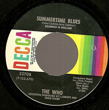 THE WHO Summertime Blues/ Heaven And Hell ORIGINAL USA 45 ~ VERY clean copy