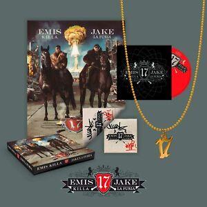CD-EMIS-KILLA-amp-JAKE-LA-FURIA-17-Cofanetto-Poster-Autografato-Ciondolo