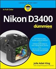 Nikon D3400 for Dummies by Julie Adair King (2016, Trade Paperback)
