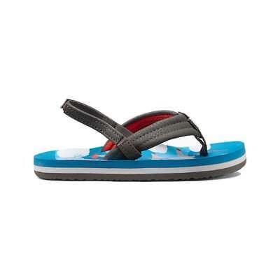 Reef Toddler Boy Girl Red Black Shark Strap Flip Flops Sandals 3//4 NWT