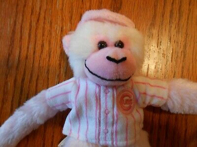 """CHICAGO CUBS 6/"""" FOREVER PINK RALLY MONKEY PLUSH STUFFED ANIMAL VGC"""