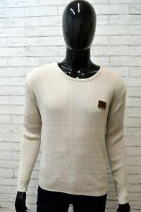 Maglione-YELL-INDUSTRY-Taglia-XL-Pullover-Cardigan-Felpa-Sweater-Uomo-Cotone