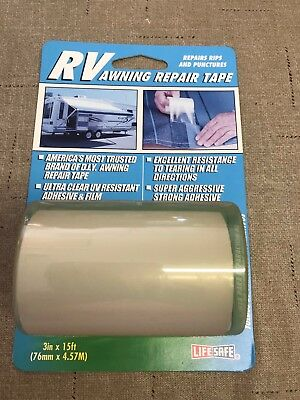 RV Awning Repair Tape - Clear / Non-Yellowing - Great for ...