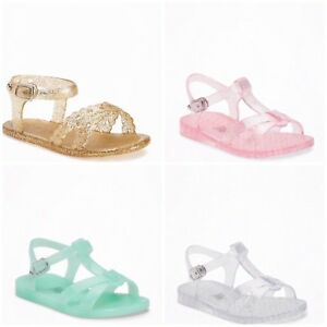 60e2f6af7dfc New Old Navy Toddler Girls Jelly T Strap Sandals Shoes Size 4 - 5 ...