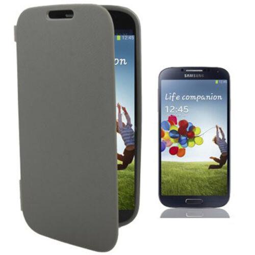 Carcasa de silicona bolso Bookstyle para Samsung i9500 Galaxy s4 cubierta protectora en gris