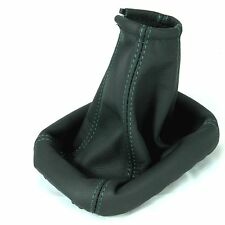 FORD FOCUS C-MAX 2003-08 GEAR BOX GAITER REAL GENUINE LEATHER GREEN STITCHING
