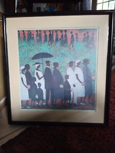 Ellis Wilson-Funeral Procession-African American-Vintage Black Art Print- Framed