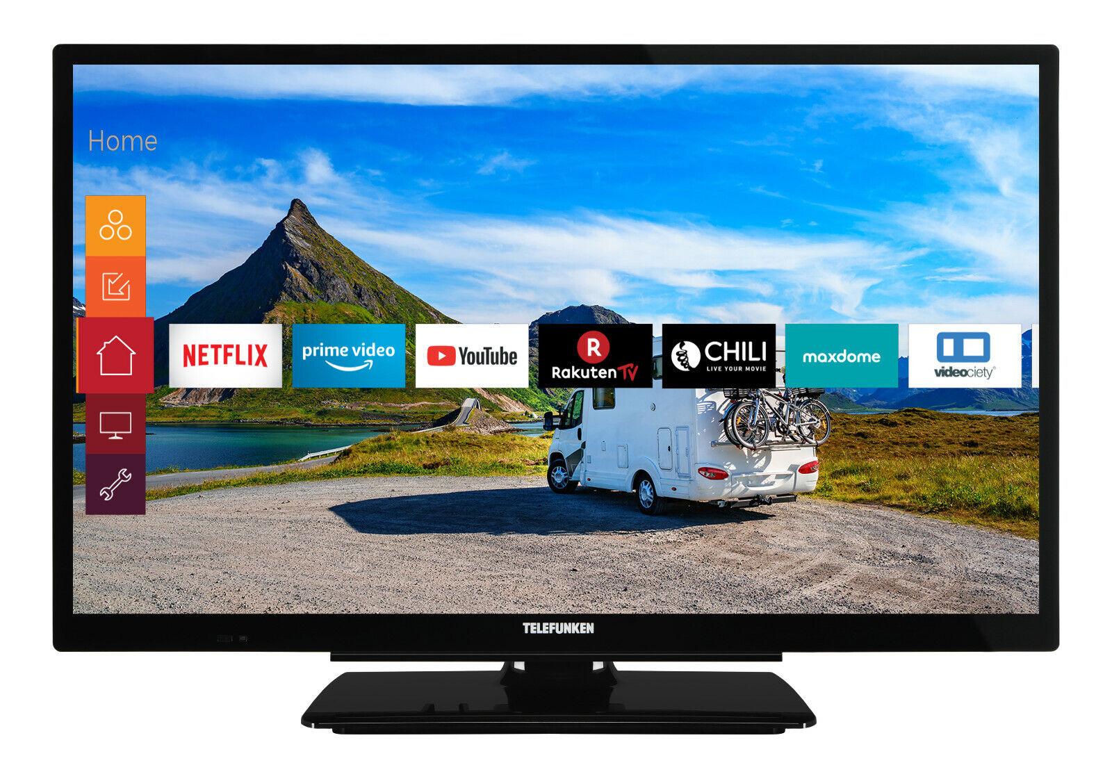Telefunken XF22G501V Fernseher 22 Zoll Full HD Smart TV 12 Volt Works with Alexa