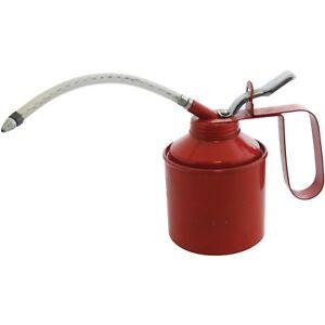 560ml-1-Pint-Oil-Can-Tin-Pump-Flexible-Spout-Handle-Metal-Lubricant-Garage