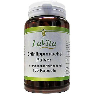 Lavita Grünlippmuschel Pulver 54,7 g Muschelkonzentrat in 100 Kapseln