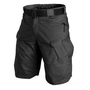 HELIKON-TEX-UTK-URBAN-TACTICAL-CARGO-SHORTS-PANTS-Hose-kurz-schwarz-black-Medium