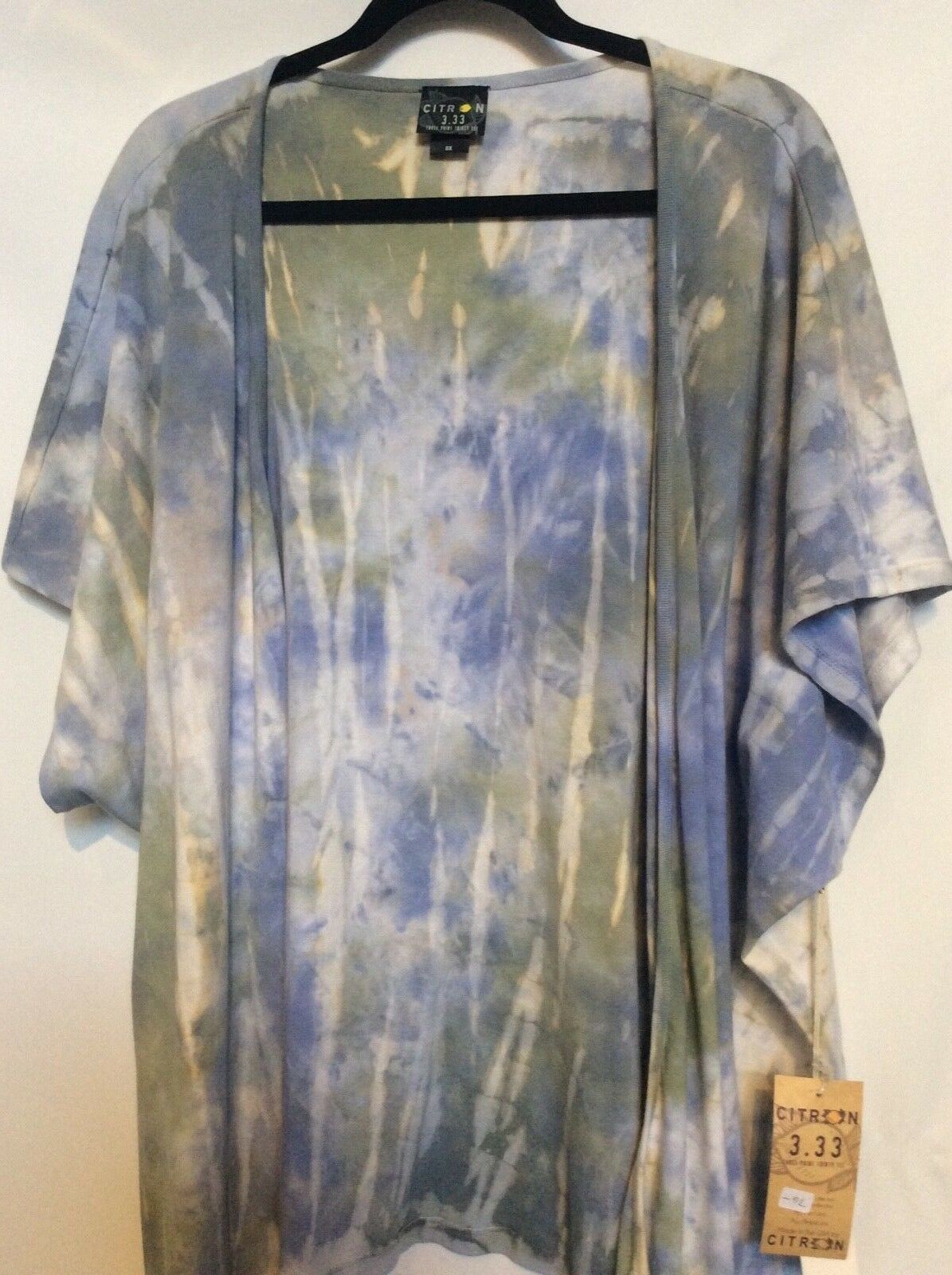 NWT 0X Cardigan 100% Cotton with Beautiful Ocean Prints by Citron Santa Monica