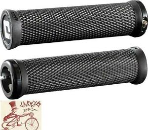 ODI CROSS TRAINER LOCK-ON BLACK BMX-MTB BICYCLE GRIPS