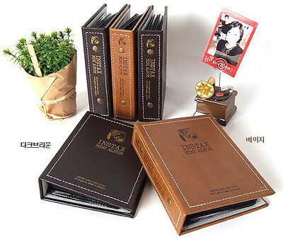 Vintage Book Photo Album 72 photos for Fujifilm INSTAX MINI film paper 7 8s 90