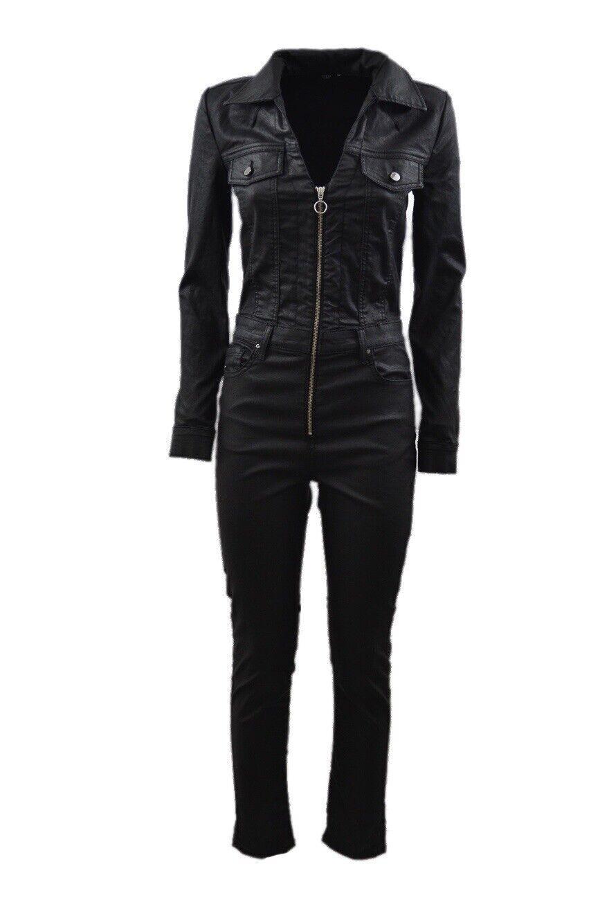 Guess Harrogate Coated Denim Jumpsuit Skinny Jeans Size 24 158