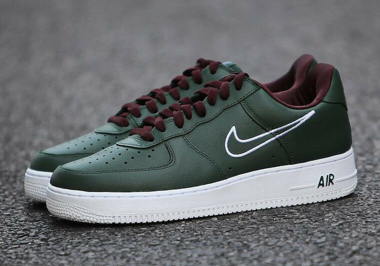 NIKE Air Force 1 Low Retro Multi Sizes Hong Kong Deep Forest White 845053 300