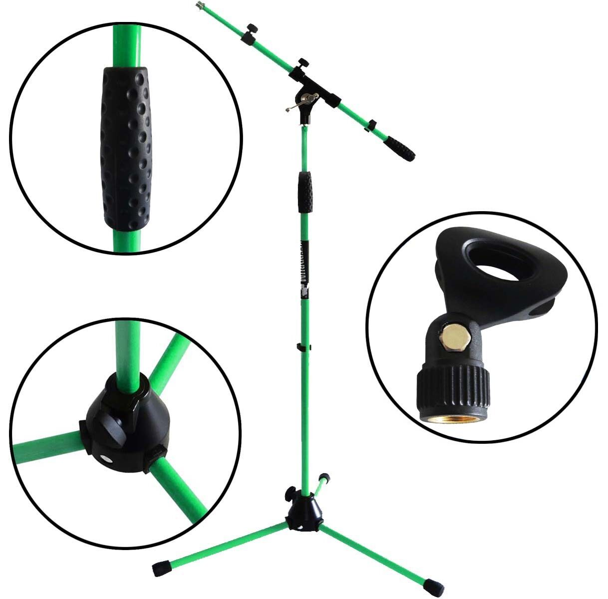 Keep DRUM MS106 Size Green Mic Stand Microphone Tripod Gallows + Microphone Clamp