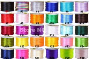 Wholesale 1mm 70M DIY Satin Nylon Cord Braided Shamballa Macrame Rattail String