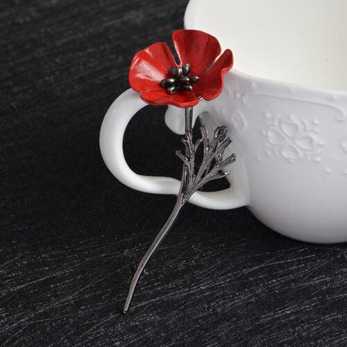 Modeschmuck Rote Blume Damen Retro Pflanze Brosche Pinnen Damen Zubehör Geschenk