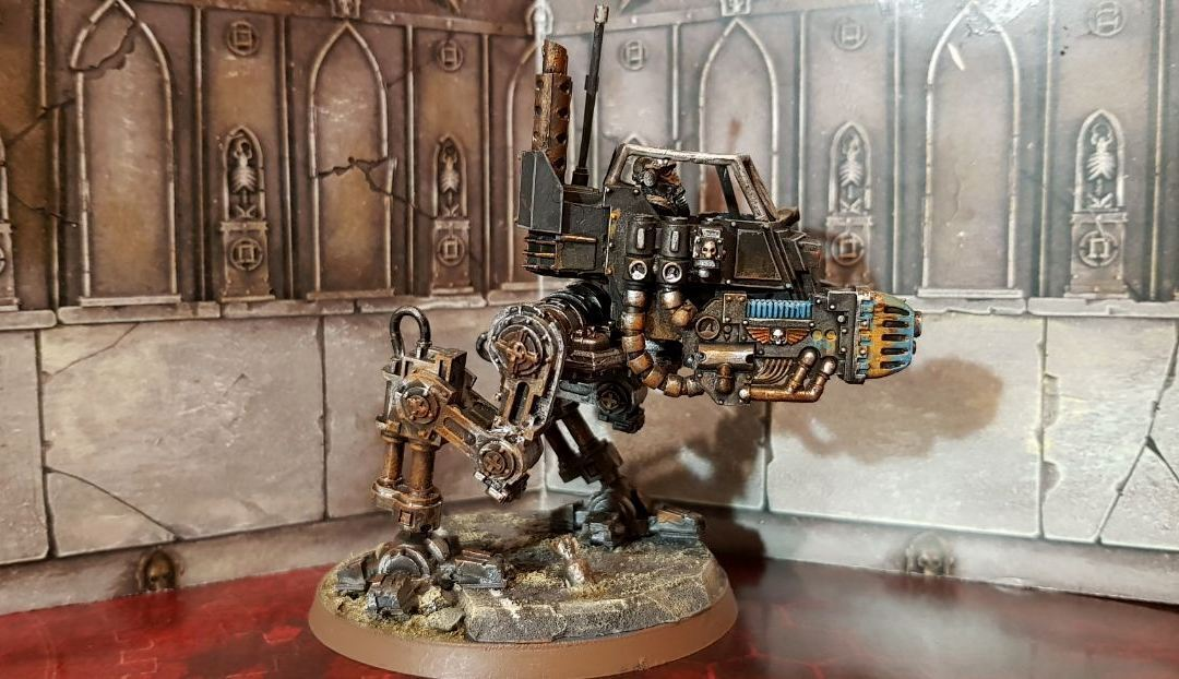 DödsKorps från Krieg Sentinel kongrönering sällsynt målat Warhammer 40k