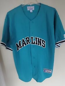 2824809077c Image is loading Vintage-Starter-Florida-Marlins-Button-Front-Premium- Baseball-