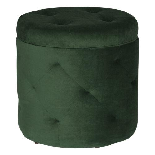 Tabouret samthocker compartiment de rangement ronde tabouret coffre à assise Retro Ottoman Velvet #1494