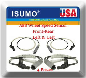 Set of 2 Rear Left and Right ABS Wheel Speed Sensors for Nissan Murano 2009-2011 4WD Model