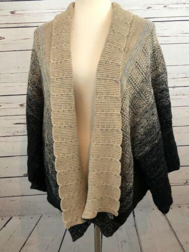 Chicos Chunky Knit Sweater Lagenlook Hole  Medium