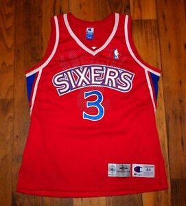 6a6cf835b7e 96-97 Authentic Pro Cut Allen Iverson Philadelphia 76ers Champion ...