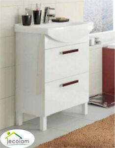 Badmöbel Waschbecken 60 cm Füße stehend Waschbeckenunterschrank ... | {Waschbeckenunterschrank stehend mit schubladen 19}